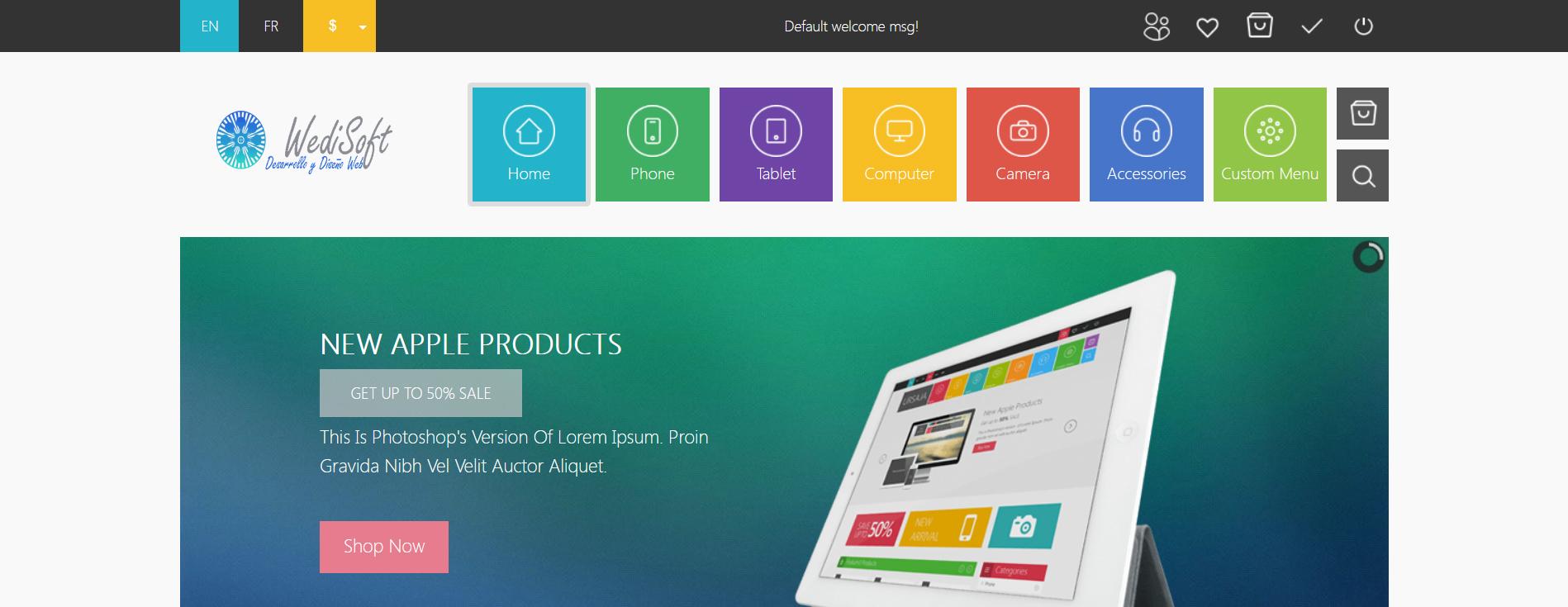 WediSoft | Diseño y Desarrollo Web | Porfolio de Diseños Realizados